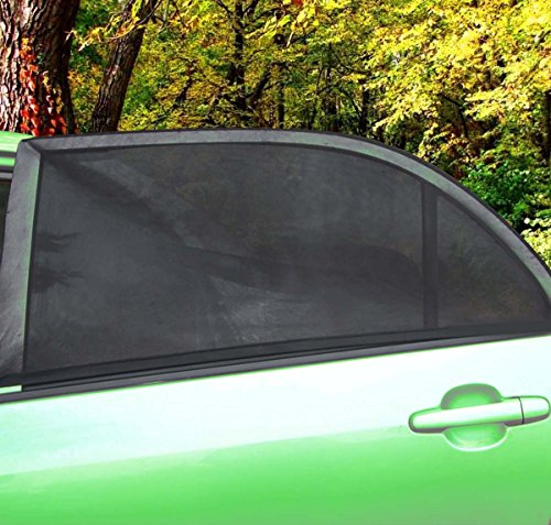 Zone Tech Car Side Window Stretchable Mesh Sunshade - 2-Pack Universal Fit Stretchable Protective Mesh Sunshade (Temporary Window Tint compare prices)