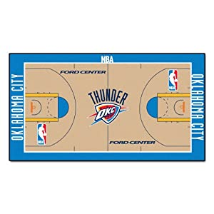 Buy FANMATS NBA Oklahoma City Thunder Nylon Face NBA Court Runner-Large by Fanmats