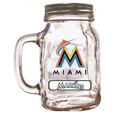 MLB Miami Marlins Duckhouse 20 Ounce Mason Jar