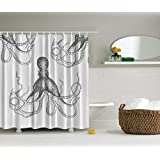 Amazon Com Thomaspaul Octopus Shower Curtain Charcoal