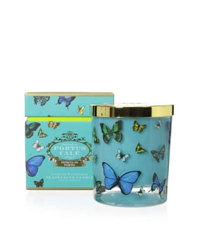 Portus Cale Butterfly Blues Candle In Glass Vessel