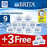 Brita Maxtra 9 Pack Water Filter Cartridges (+3 Free)