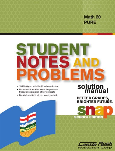Student Notes and Problems Solution Manual Math 20 Pure