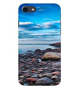 PrintVisa Pebble Beach Design 3D Hard Polycarbonate Designer Back Case Cover for Apple iPhone 7