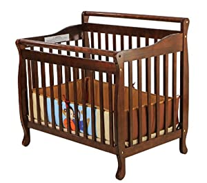 Dream On Me 4 In 1 Portable Convertible Crib, Espresso