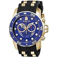 Invicta Pro Diver Chronograph Blue Dial Black Polyurethane Men's Watch (Multiple Colors)