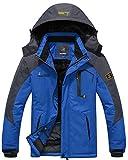 Wantdo Men's Waterproof Mountain Jacket Fleece Windproof Ski Jacket(US XL)
