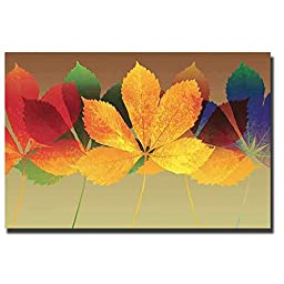 Leaf Dance II by Robert Mertens Premium Oversize Gallery-Wrapped Canvas Giclee Art (Ready to Hang)