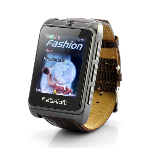 Watch Phone 'Smooth Operator' - 1.8 Inch Touch Screen, Leather Strap