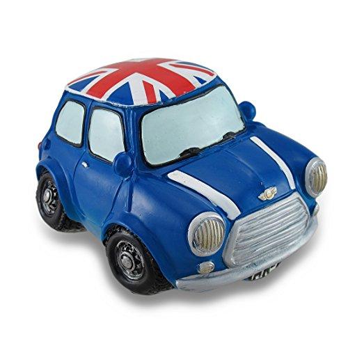Vintage Style Blue Union Jack Mini Cooper Coin Bank Car Piggy Bank