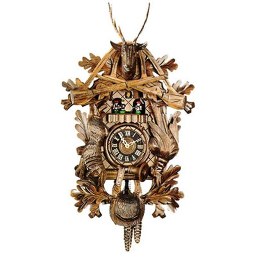 One Day Three Weight Musical Dead Animal Trophy Style Hunter Cuckoo Clock