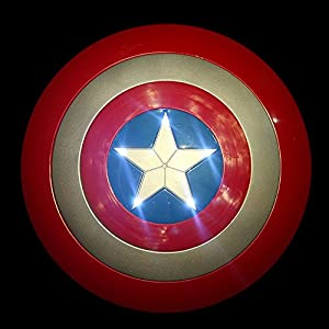 Glantop Super Hero Avenger LED LIGHT Music Captain America Shield Party Costume Kid Toy Halloween