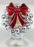 Bath & Body Works Silver Bells Wreath with Red Bow Wallflower Diffuser Plug in Unit