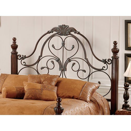 Hillsdale Furniture 1037Hk Bonaire Headboard, King, Brushed Bronze