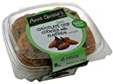 Aunt Gussie's Sugar Free Chocolate Chip Cookies with Almonds, 7-Ounce Tubs (Pack of 4)