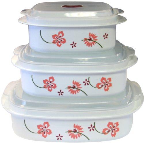Corelle Coordinates Pretty Pink 6-Piece Microwave Cookware Set
