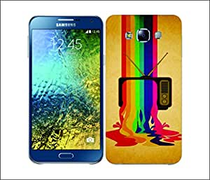 Galaxy Printed 1653 COLOUR DRIPS TV Hard Cover for samsung GRAND 2