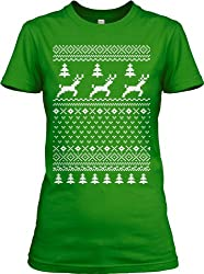 Ugly Christmas Sweater T Shirt Funny Holiday Shirts For Women by Crazy Dog Tshirts