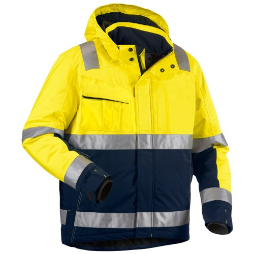 Blakläder High Vis Winter Bundjacke Kl. 3 Gelb/Marineblau, 4870 1987 3389, Gr. M