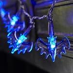 20er blaue Lichterkette Fledermaus f�...