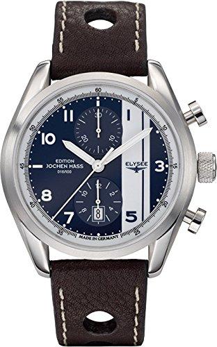 Elysee Jochen Mass 70950 - Reloj analógico automático para hombre, correa de cuero color marrón (cronómetro)