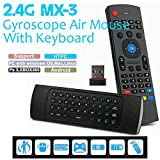 VUUV MX3 Bluetooth Wireless Air Mouse Keyboard Motion Gyroscope Remote Control Android PC Smart TV MXQ M8S (For Smart TV Box + Windows + Android + MAC + Linux )