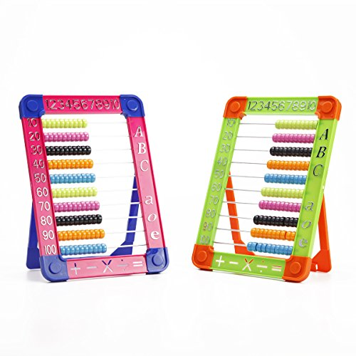 Toyerbee Arithmatics Bead Abacus Plastic Toys With Rack For Kids Random Color Counting Abacus