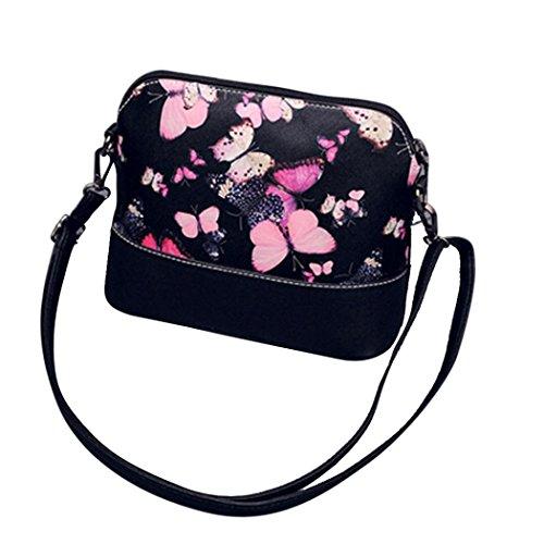 Vovotrade® Le donne di stampa della borsa a tracolla in pelle Bauletto Messenger