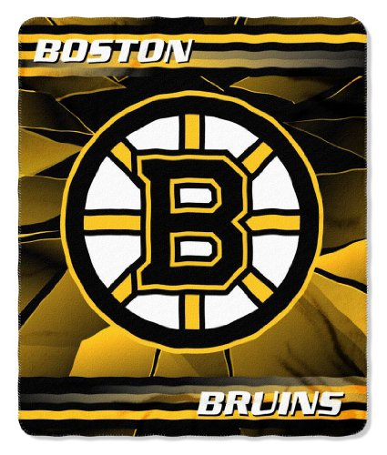 Boston Bruins 50X60 Fleece Blanket - Ice Design front-175405