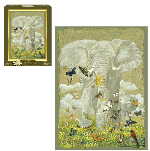 African Elephant 300-Piece Puzzle - 1