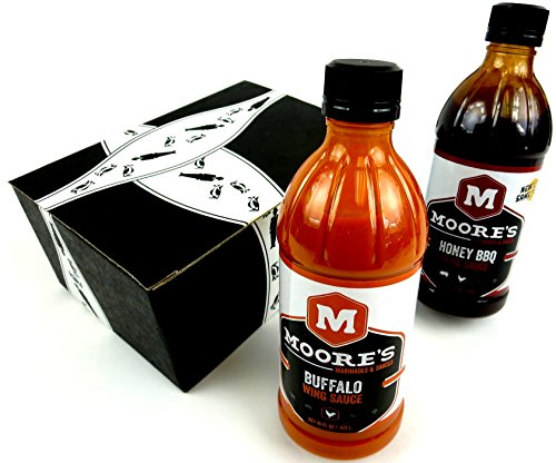 Moore's Wing Sauce 2-Flavor Variety: One 16 oz