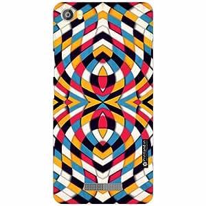 Lava Iris X8 Back Cover - Silicon Eye Illusion Designer Cases