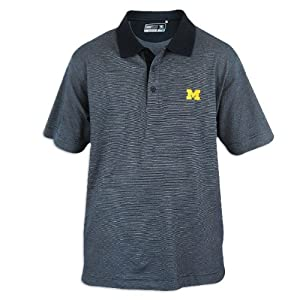 Michigan Wolverines Mens Cutter and Buck Drytec Resolute Polo by Cutter & Buck
