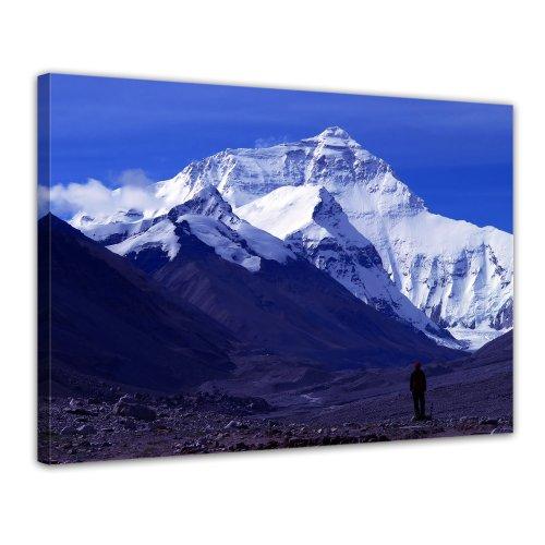 Bilderdepot24 Leinwandbild Mount Everest - 70x50 cm 1 teilig - fertig gerahmt, direkt vom Hersteller