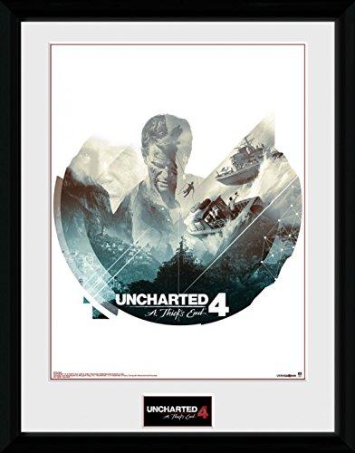 Uncharted - 4, Boats Poster Da Collezione Incorniciato (40 x 30cm)