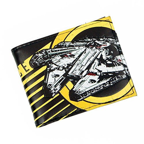 12. Star Wars Rebel Alliance Millennium Falcon Brown Bi-Fold Wallet