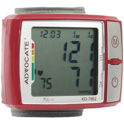 Image of ADVOCATE KD-7902 WRIST BLOOD PRESSURE MONITOR WITH COLOR INDICATOR (B00AC7FUKQ)