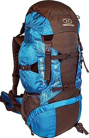 Highlander Discovery Adventure Travel Rucksack Back Pack Backpack + Cover 45L 65L Blue Teal (45 Litre)