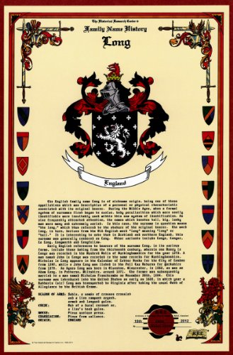 Long Coat Of Arms/Crest And Family Name History, Meaning & Origin Plus Genealogy/Family Tree Research Aid To Help Find Clues To Ancestry, Roots, Namesakes And Ancestors Plus Many Other Surnames At The Historical Research Center Store front-655630