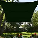 BlueDot Trading Rectangle Shade Sail-Breathable Mesh, 13 by 16.5-Inch, Green