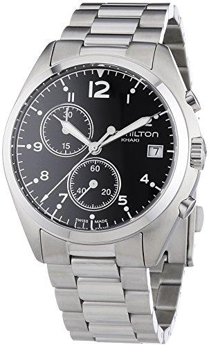 Hamilton  - Reloj  de Cuarzo para Hombre, correa de Acero inoxidable color Plateado