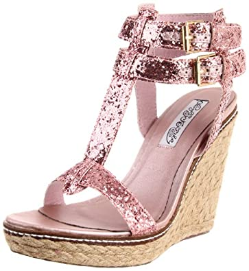 Naughty Monkey Women's Saint Tropez Wedge Sandal,Pink,6 M US