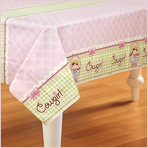 Birthday Express - Pink Cowgirl Plastic Tablecover