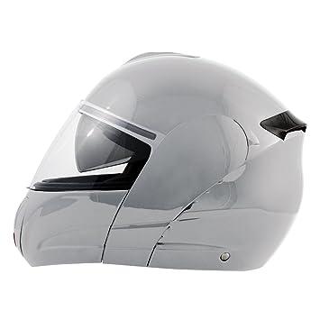 Akira 21055 Casque Moto Intégral Hirosaki, Argent, XL
