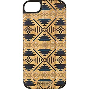 Recover+ Pendleton Printed Wood Case for iPhone 5/5S - Retail Packaging - Orange