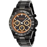 [ブルッキアーナ]BROOKIANA 腕時計 クオーツ アナログ表示 クロノグラフ 10気圧防水 ブラック×オレンジ BA1701-BKOR メンズ