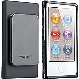 Generic Black Belt Clip TPU Rubber Skin Case Cover for Apple iPod Nano 7th Generation 7G 7