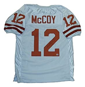 Colt McCoy Signed Texas Longhorns White Jersey by RSF+Memorabilia