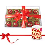 Valentine Chocholik Luxury Chocolates - Nicely Wrapped Choco Collection With Love Mug