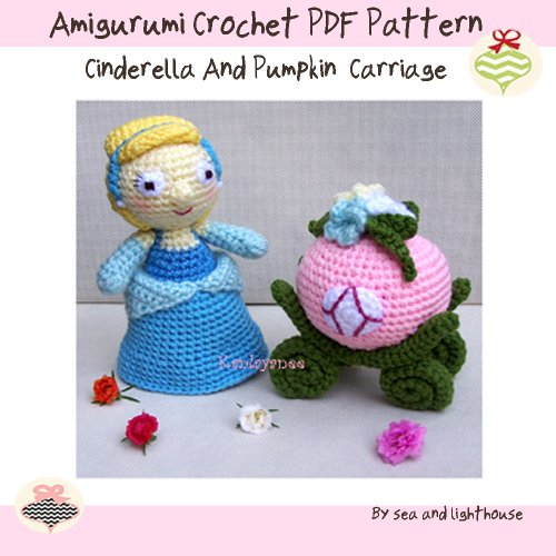 Cinderella and pumpkin carriage - Amigurumi Crochet PDF Pattern